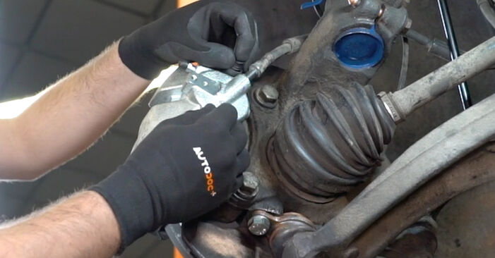 How to replace Brake Calipers on VW Transporter V Van (7HA, 7HH, 7EA, 7EH) 2008: download PDF manuals and video instructions