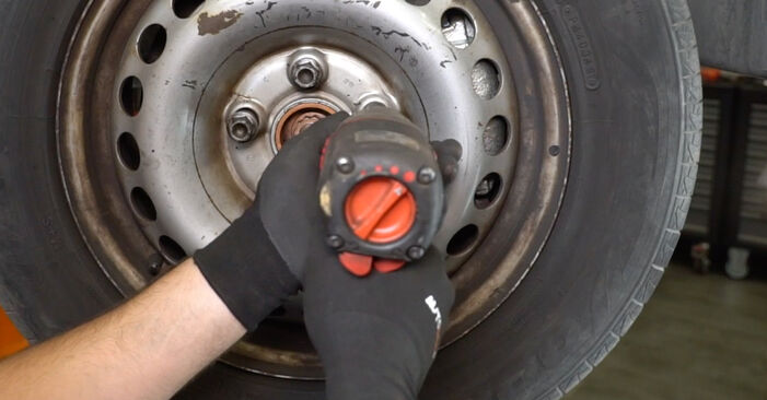 Changing Brake Calipers on VW Transporter V Van (7HA, 7HH, 7EA, 7EH) 2.0 TDI 2006 by yourself