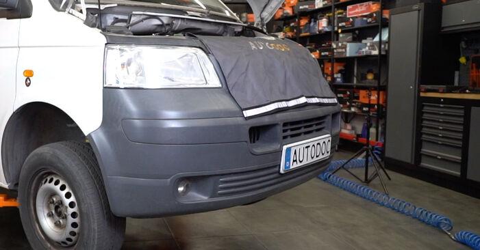 VW T5 Van 2.5 TDI 4motion 2005 Brake Calipers replacement: free workshop manuals