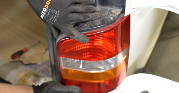 Changing Tail Lights on VW Transporter V Van (7HA, 7HH, 7EA, 7EH) 2.0 TDI 2006 by yourself