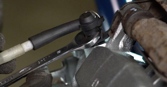 VW TRANSPORTER 2.5 TDI 4motion Bremssattel ausbauen: Anweisungen und Video-Tutorials online