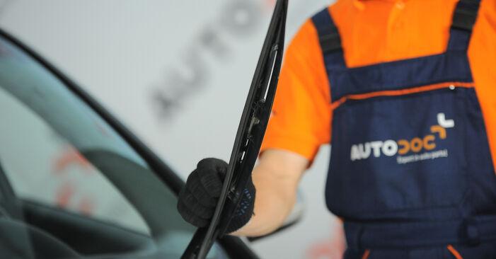 Kaip pakeisti AUDI A4 Sedanas (8E2, B6) 1.9 TDI 2001 Valytuvo gumelė - išsamios instrukcijos ir vaizdo pamokos