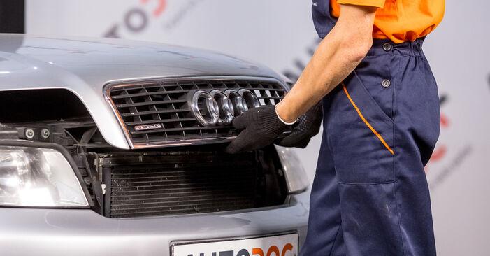 Kaip pakeisti Stabdžių Kaladėlės la Audi A4 b6 2000 - nemokamos PDF ir vaizdo pamokos
