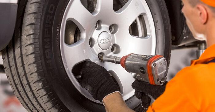 Kiek užtrunka keitimas: Audi A4 b6 2003 Stabdžių Kaladėlės - informatyvi PDF instrukcija