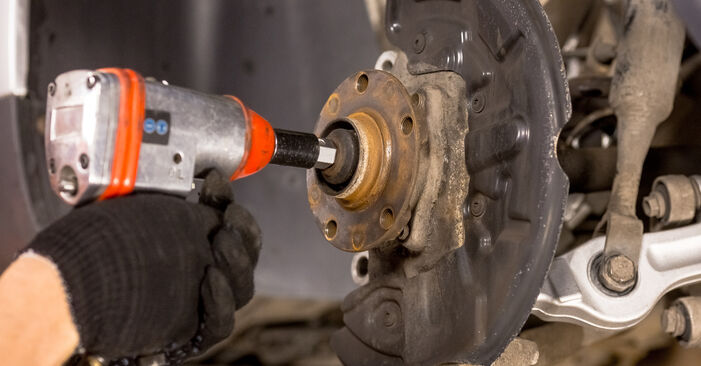 Changing of Wheel Bearing on Audi A4 b6 2003 won't be an issue if you follow this illustrated step-by-step guide