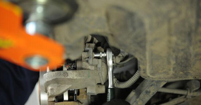Wieviel Zeit nimmt der Austausch in Anspruch: Bremssattel beim Mercedes W211 2002 - Ausführliche PDF-Anleitung