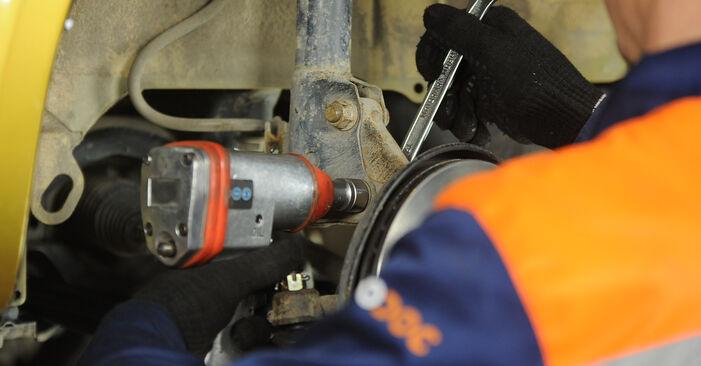 Wie schwer ist es, selbst zu reparieren: Stoßdämpfer Toyota Yaris p1 1.0 (SCP10_) 2005 Tausch - Downloaden Sie sich illustrierte Anleitungen