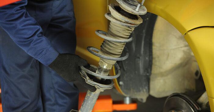 Cambio Copelas Del Amortiguador en Toyota Yaris p1 2000 no será un problema si sigue esta guía ilustrada paso a paso