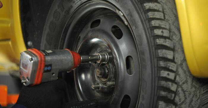 Cómo reemplazar Copelas Del Amortiguador en un TOYOTA Yaris Hatchback (_P1_) 1.0 (SCP10_) 2000 - manuales paso a paso y guías en video