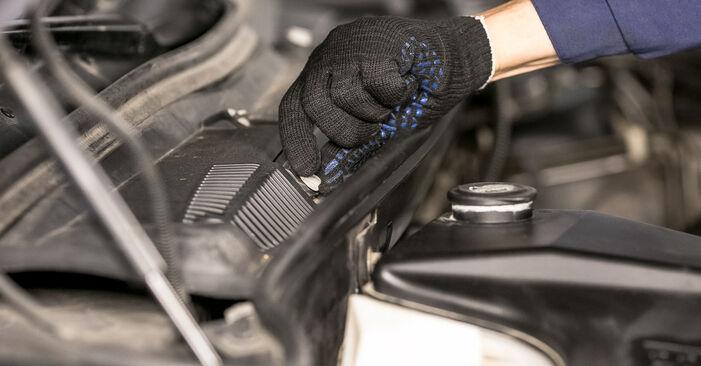 Wie Innenraumfilter BMW X5 (E53) 3.0 i 2001 austauschen - Schrittweise Handbücher und Videoanleitungen