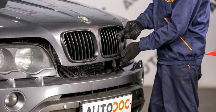 Wie Bremssattel beim BMW E53 2000 gewechselt werden - Unentgeltliche PDF- und Videoanweisungen