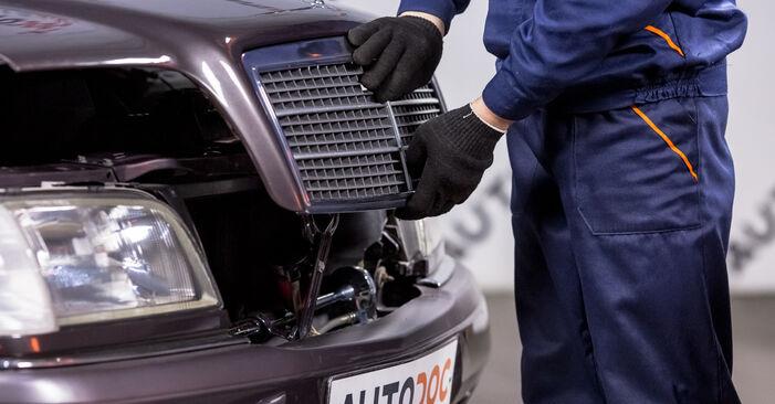 Austauschen Anleitung Luftfilter am Mercedes W202 1995 C 180 1.8 (202.018) selbst