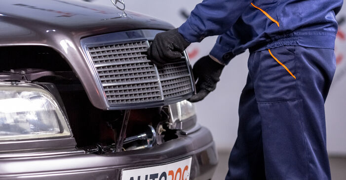 How to change Oil Filter on Mercedes W202 1993 - free PDF and video manuals