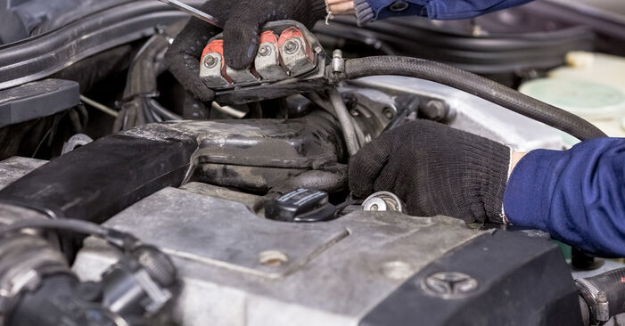 Changing of Spark Plug on Mercedes W202 1993 won't be an issue if you follow this illustrated step-by-step guide