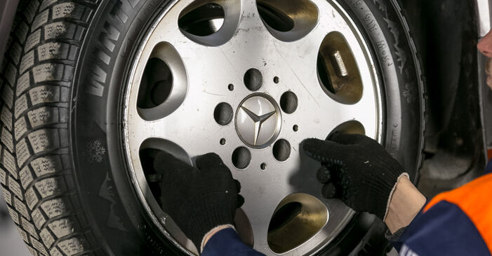 How to remove MERCEDES-BENZ C-CLASS C 200 2.0 (202.020) 1997 Brake Discs - online easy-to-follow instructions