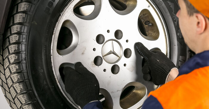 How to remove MERCEDES-BENZ C-CLASS C 200 2.0 (202.020) 1997 Brake Pads - online easy-to-follow instructions