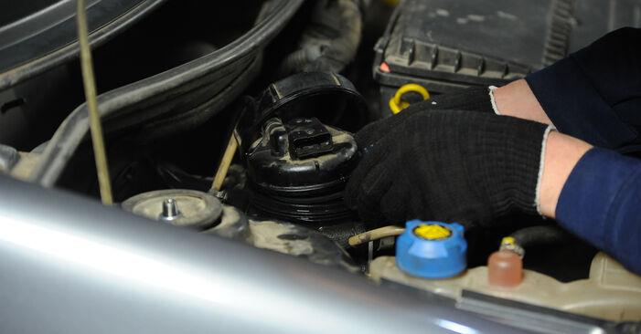 FIAT PUNTO 2006 Горивен филтър стъпка по стъпка наръчник за смяна
