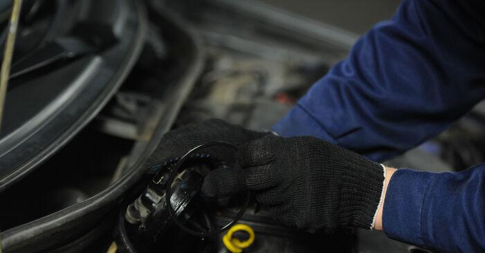 Как да демонтираме FIAT PUNTO 1.9 JTD 2003 Горивен филтър - онлайн лесни за следване инструкции
