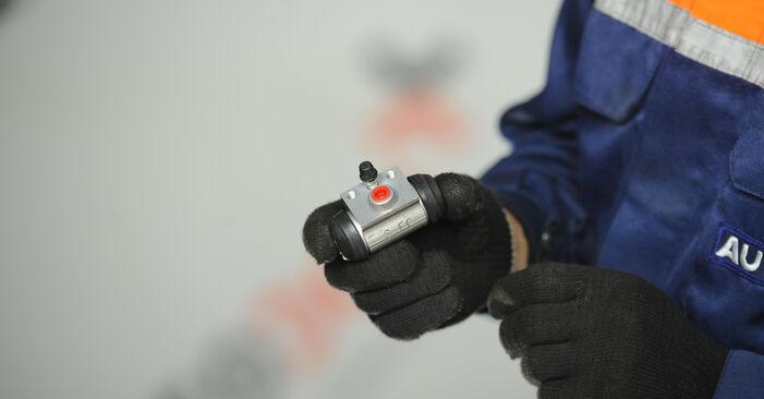 FIAT PUNTO 1.2 Bifuel Radbremszylinder ausbauen: Anweisungen und Video-Tutorials online