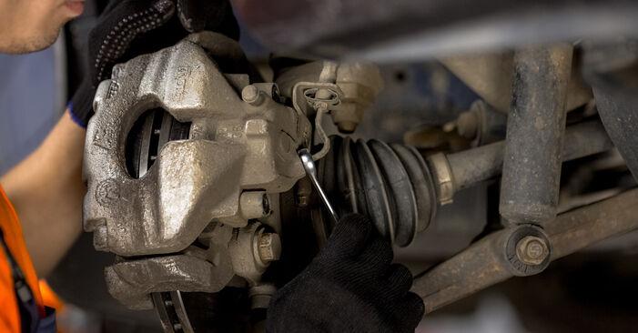 Bremssattel beim VW TRANSPORTER 2.4 D 1997 selber erneuern - DIY-Manual