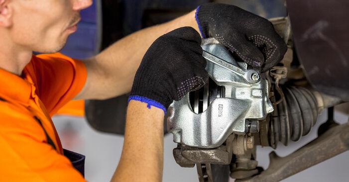 Bremssattel VW T4 Transporter 1.9 TD 1992 wechseln: Kostenlose Reparaturhandbücher