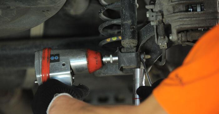 VW POLO 2008 Veerpootlager stap voor stap instructies voor vervanging