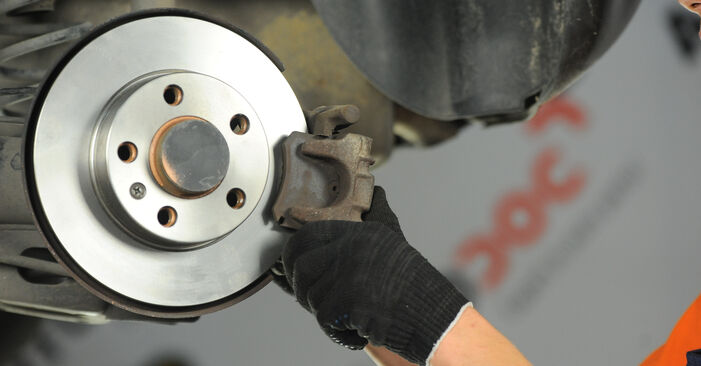 How to replace Brake Discs on VW POLO (9N_) 2006: download PDF manuals and video instructions