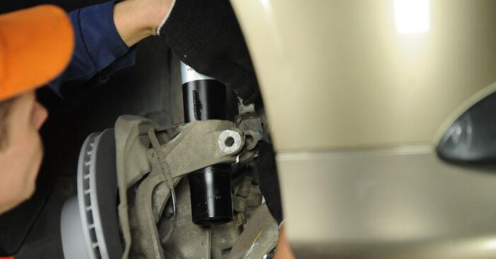 BMW 3 SERIES 2011 Amortizatorius išsami keitimo instrukcija