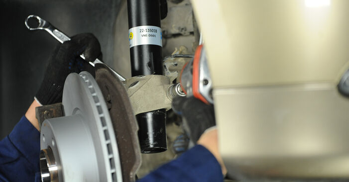 Kiek užtrunka keitimas: BMW E90 2004 Amortizatorius - informatyvi PDF instrukcija