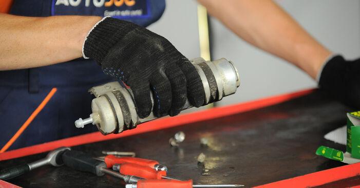 Wie schwer ist es, selbst zu reparieren: Kraftstofffilter BMW X3 E83 2.0 i 2009 Tausch - Downloaden Sie sich illustrierte Anleitungen
