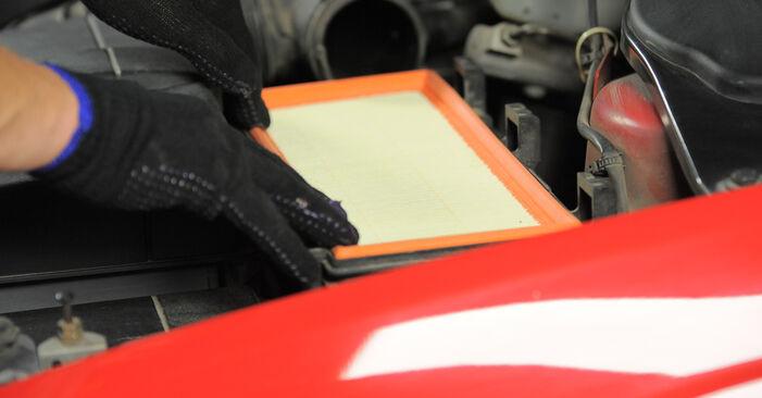 Wie schwer ist es, selbst zu reparieren: Luftfilter Ford Mondeo bwy ST220 3.0 2006 Tausch - Downloaden Sie sich illustrierte Anleitungen