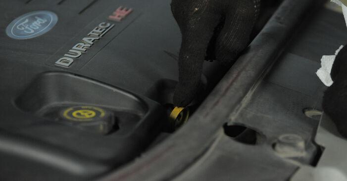 Kui keeruline on seda iseseisvalt teha: vahetada välja Ford Mondeo bwy ST220 3.0 2006 Õlifilter - laadige alla illustreeritud juhend