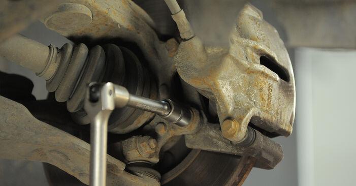 Wie schwer ist es, selbst zu reparieren: Bremsscheiben Ford Mondeo bwy ST220 3.0 2006 Tausch - Downloaden Sie sich illustrierte Anleitungen