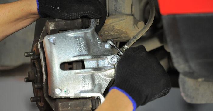 Wie schwer ist es, selbst zu reparieren: Bremssattel Ford Mondeo Mk3 ST220 3.0 2006 Tausch - Downloaden Sie sich illustrierte Anleitungen