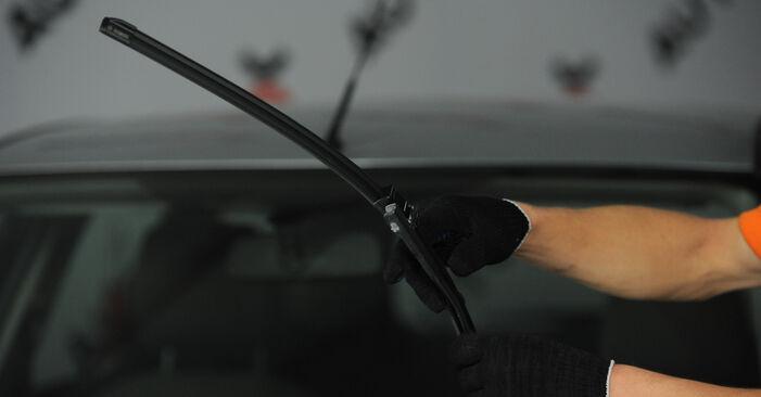 Wie Scheibenwischer FORD Focus II Limousine (DB_, FCH, DH) 1.8 TDCi 2005 austauschen - Schrittweise Handbücher und Videoanleitungen
