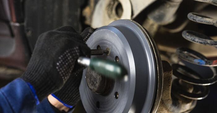 A-Class (W168) A 190 1.9 (168.032, 168.132) 2000 Brake Drum DIY replacement workshop manual