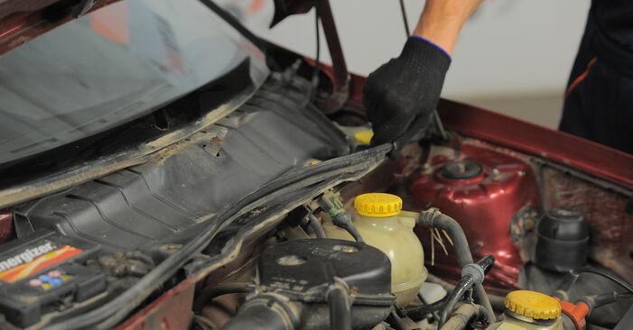Schrittweise Anleitung zum eigenhändigen Ersatz von Opel Corsa S93 1996 1.5 TD (F08, F68, M68) Innenraumfilter