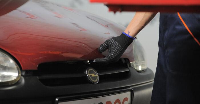 Wie Luftfilter Opel Corsa S93 1.0 i 12V (F08, F68, M68) 1993 tauschen - Kostenlose PDF- und Videoanleitungen