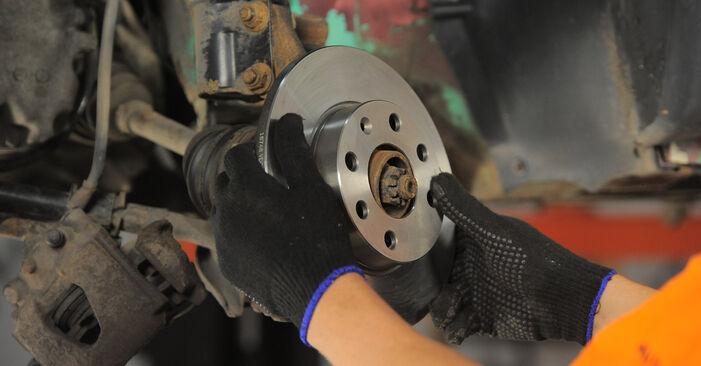 Hvordan skifte Bremseskiver på OPEL Corsa B Hatchback (S93) 1998: Last ned PDF- og videoveiledninger