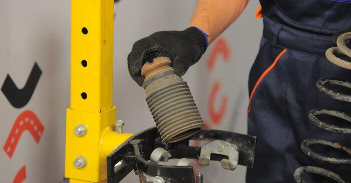 Wie schwer ist es, selbst zu reparieren: Federn Opel Corsa B 1.4 i 16V (F08, F68, M68) 1999 Tausch - Downloaden Sie sich illustrierte Anleitungen