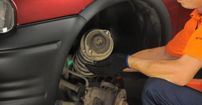 Byt Corsa B Hatchback (S93) 1.5 TD (F08, F68, M68) 1994 Fjäderbenslagring – gör det själv med verkstadsmanual