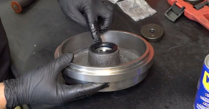 How hard is it to do yourself: Wheel Bearing replacement on VW GOLF II (19E, 1G1) 1.6 TD 1989 - download illustrated guide