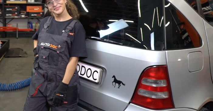 How to change Tailgate Struts on Mercedes W168 1997 - free PDF and video manuals