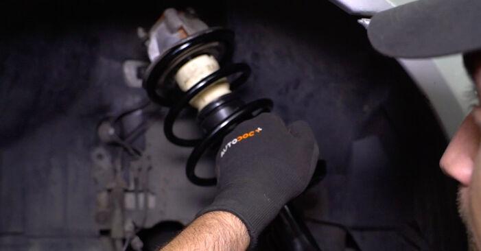Ako dlho trvá výmena: Tlmič pruzenia na aute Mercedes W168 1997 – informačný PDF návod