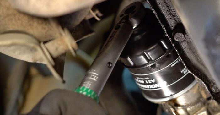 Schritt-für-Schritt-Anleitung zum selbstständigen Wechsel von Fiat Punto 188 2012 1.9 JTD Ölfilter
