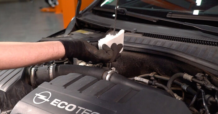 How to remove OPEL CORSA 1.7 DTI (F08, F68) 2004 Oil Filter - online easy-to-follow instructions