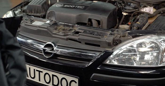 Comment retirer OPEL CORSA 1.7 DTI (F08, F68) 2004 Filtre à Carburant - instructions en ligne faciles à suivre