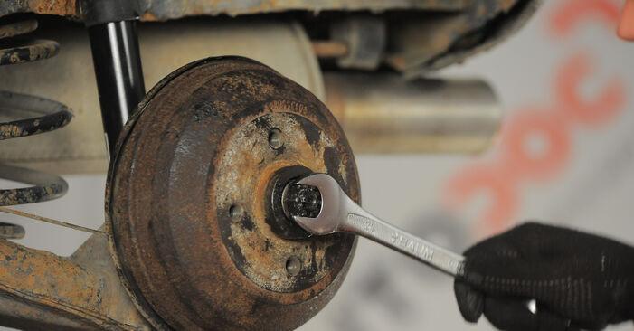 Radbremszylinder Opel Corsa S93 1.4 i (F08, F68, M68) 1995 wechseln: Kostenlose Reparaturhandbücher