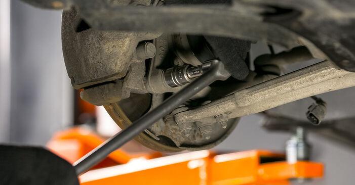 Jaké náročné to je, pokud to budete chtít udělat sami: Uložení Tlumičů výměna na autě Passat B6 1.4 TSI EcoFuel 2011 - stáhněte si ilustrovaný návod