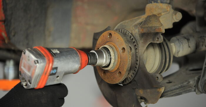 Changing of Wheel Bearing on Golf 4 2005 won't be an issue if you follow this illustrated step-by-step guide